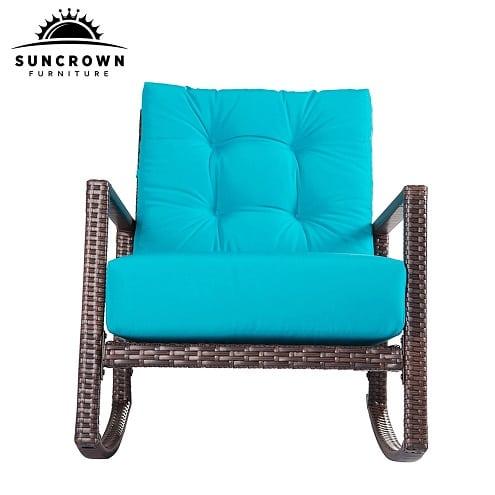 brown-wicker-furniture-rocking-chair Best White Wicker Furniture
