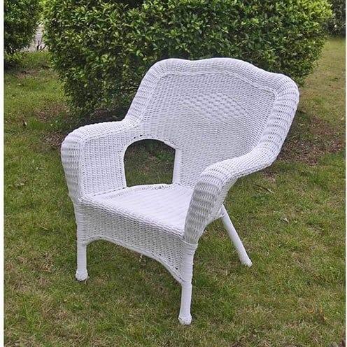 international-caravan-monaco-all-weather-white-wicker-chair Best White Wicker Furniture