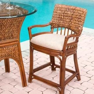 key-largo-24-wicker-bar-stool Best Wicker Bar Stools