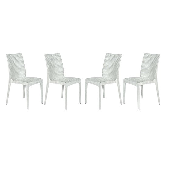 leisuremod-modern-weave-dining-chair-set-of-4 Best White Wicker Furniture