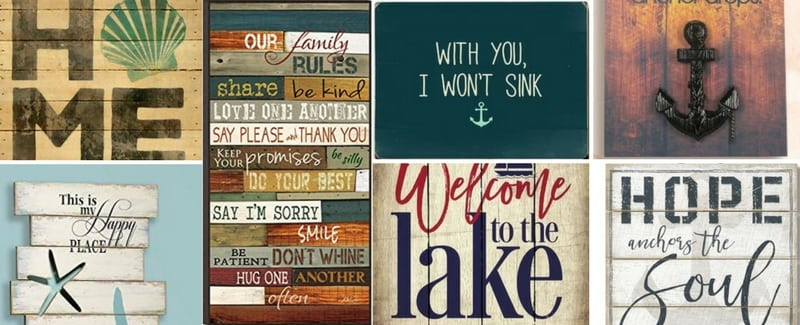 Nautical Wood Wall Decor & Wooden Signs