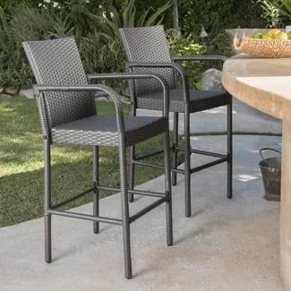 orren-ellis-damis-outdoor-wicker-30-bar-stool Best Wicker Bar Stools