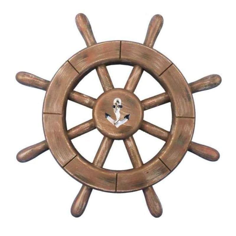 ship-wheel-wood-wall-decor-800x800 Nautical Wood Wall Decor & Wooden Signs
