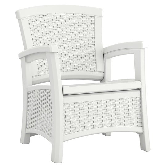 suncast-elements-club-chair-with-storage-wicker-style-1 Best White Wicker Furniture