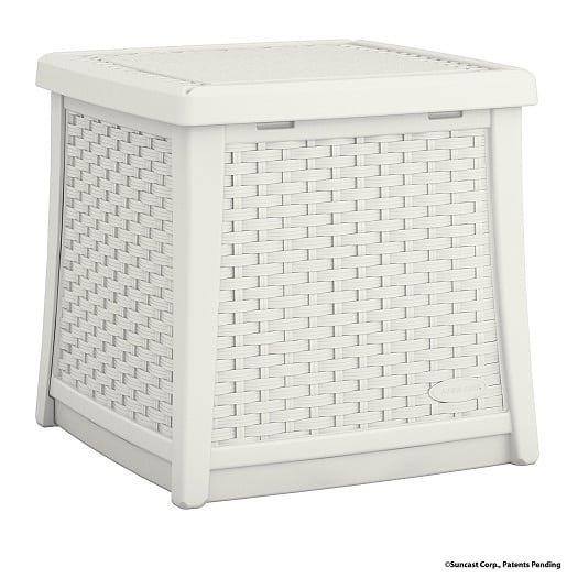 suncast-elements-white-end-table-wicker-style Best White Wicker Furniture