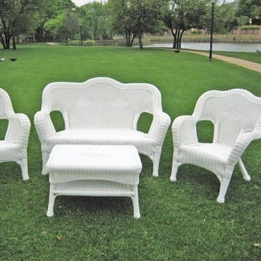 white-maui-outdoor-wicker-seating-group Best White Wicker Furniture