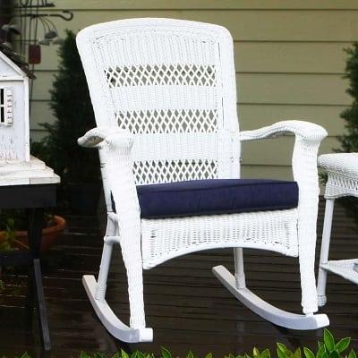 white-tortuga-plantation-rocking-chair Best White Wicker Furniture