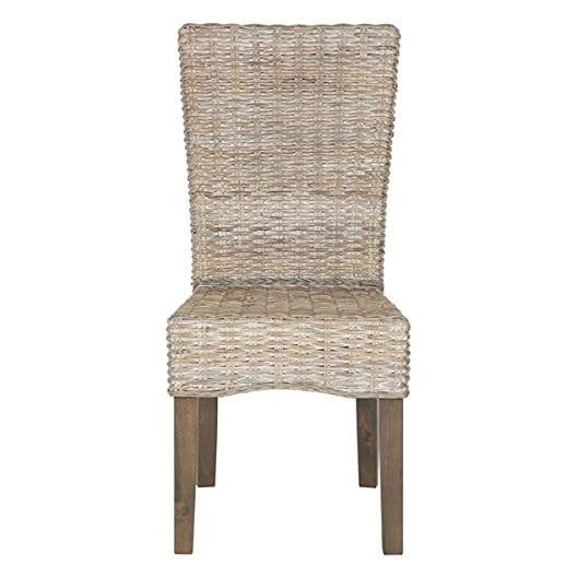 white-wash-wicker-dining-chair Best White Wicker Furniture