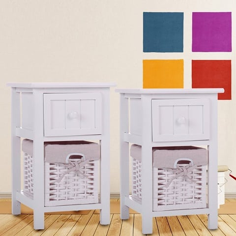 white-wicker-end-table-set Best White Wicker Furniture