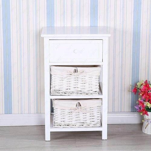 white-wicker-end-table Best White Wicker Furniture