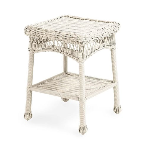 wicker-square-end-table Best White Wicker Furniture