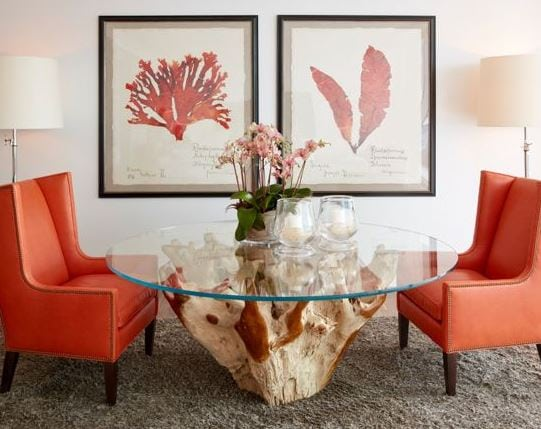 South-Florida-Condo-Chic-by-Jalan-Jalan-Collection Beautiful Coral Decor