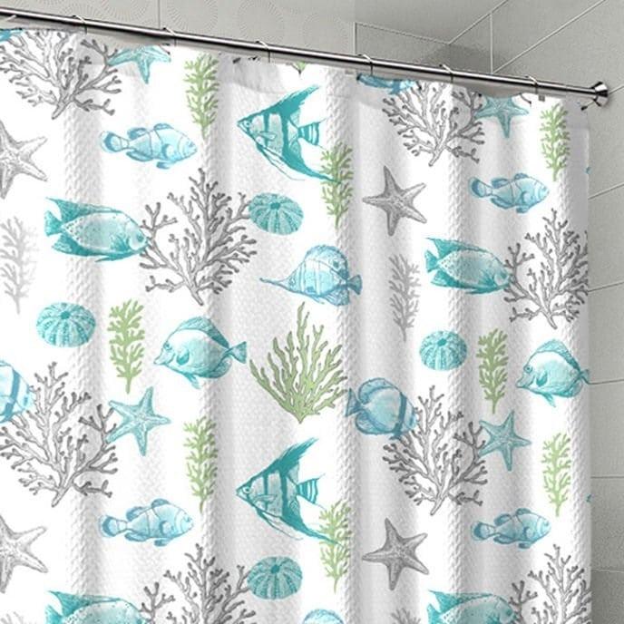 coral-fish-beach-shower-curtain Beautiful Coral Decor
