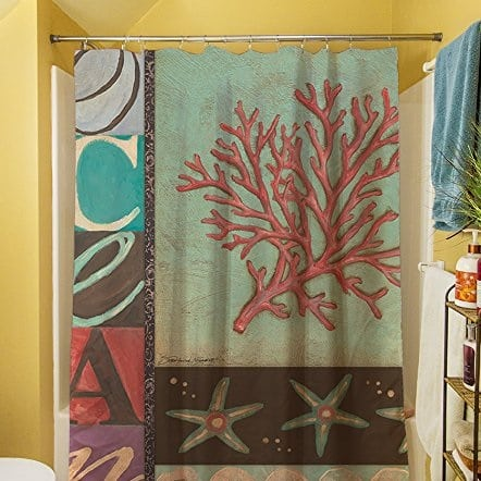 coral-shower-curtain-1 Coral Decor