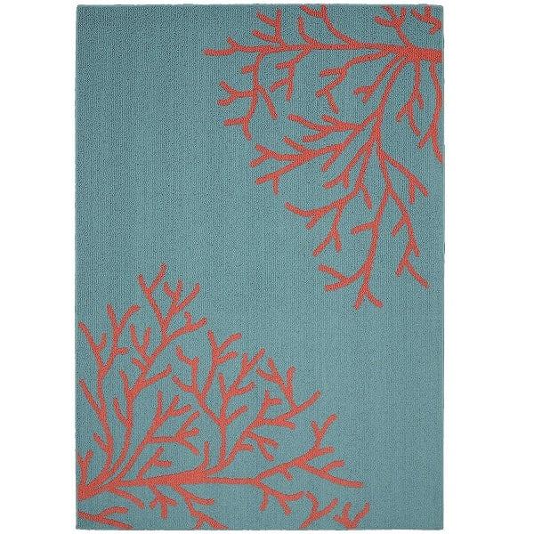 garland-rug-coral-area-rug Beautiful Coral Decor