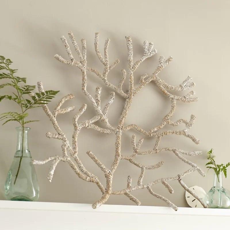 seagrass-wrapped-coral-decor Beautiful Coral Decor
