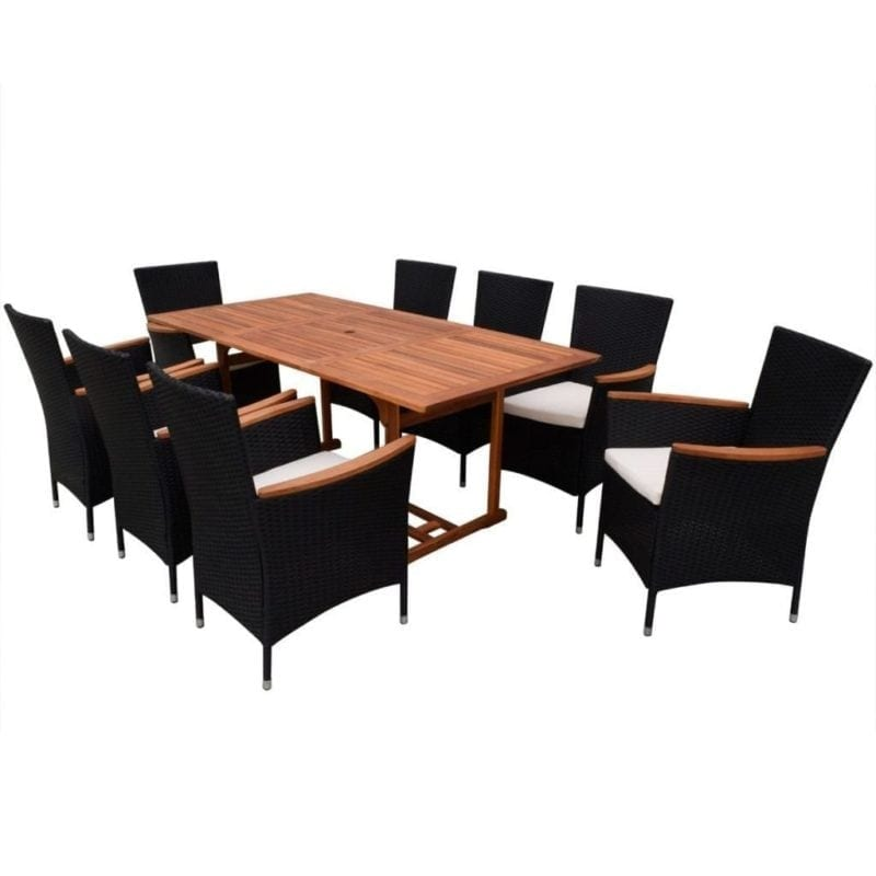 black-wicker-chairs-with-brown-wood-dining-table-800x800 Best Black Wicker Furniture