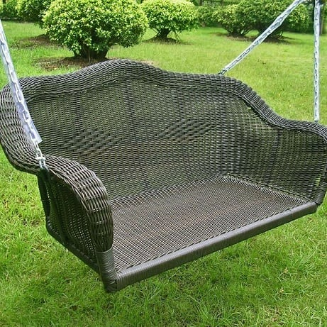 black-wicker-porch-swing Wicker Swings and Wicker Porch Swings