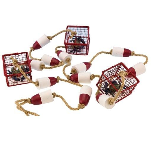 crab-trap-buoy-garland Crab Decor & Crab Decorations