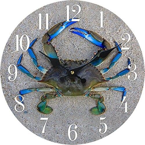 crab-wood-wall-clock Crab Decor & Crab Decorations