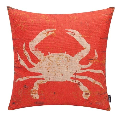 red-crab-pillow-white-crab Crab Decor & Crab Decorations