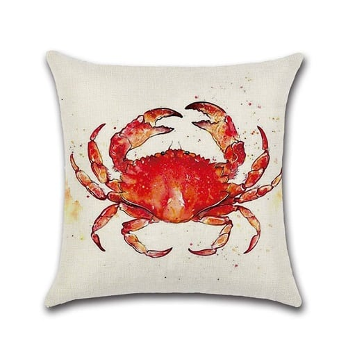 red-crab-throw-pillow-2 Crab Decor & Crab Decorations