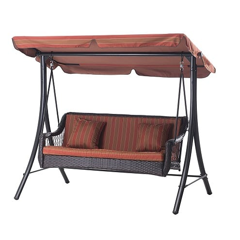 sunjoy-3-seat-canopy-wicker-metal-swing Wicker Swings and Wicker Porch Swings