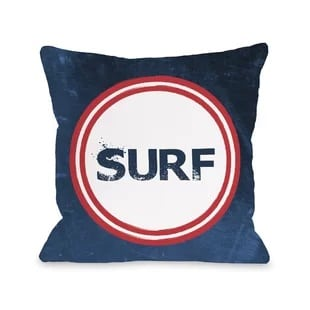 surf-throw-pillow Surf Decor & Surfboard Decorations