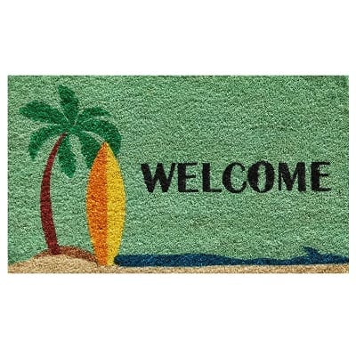 surf-up-welcome-doormat Surf Decor & Surfboard Decorations