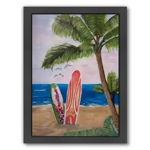 surfboards-beach-painting Surf Decor & Surfboard Decorations
