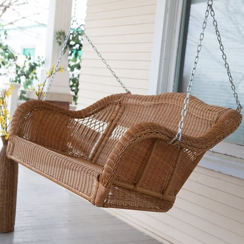 walnut-coast-wicker-porch-swing Wicker Swings and Wicker Porch Swings