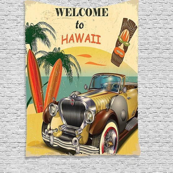 welcome-to-hawaii-tapestry Surf Decor & Surfboard Decorations
