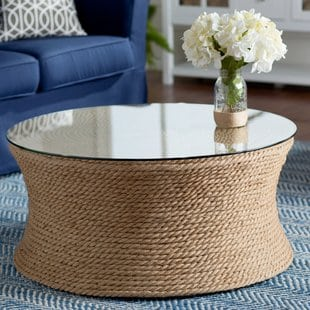 Brinda Coffee Table Beach And Coastal Coffee Tables