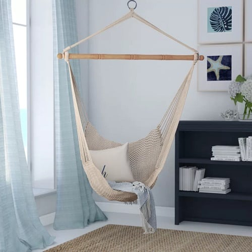 Beachcrest-Home-Crowell-Rope-Cotton-Chair-Hammock Best Rope Hammocks