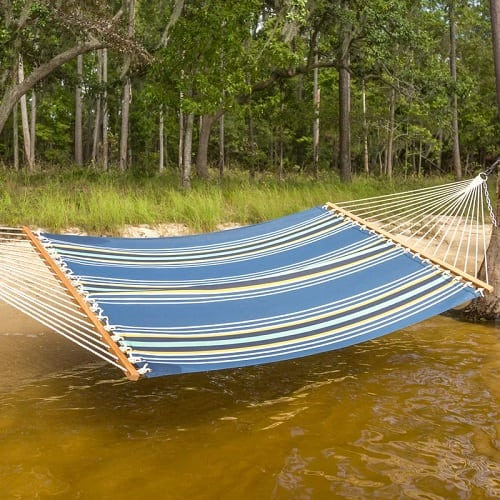 Freepork-Park-Cara-Stripe-Double-Tree-Hammock Best Rope Hammocks