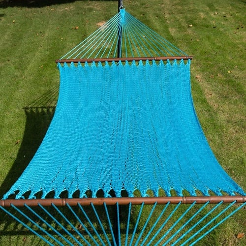 Toucan-Outdoor-55-inch-caribbean-rope-hammock-blue Best Rope Hammocks