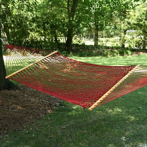 pawleys-island-red-rope-hammock Best Rope Hammocks