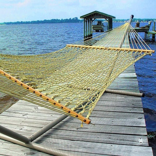 pawleys-island-yellow-rope-hammock Best Rope Hammocks