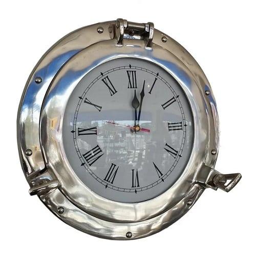 traditional-porhole-metal-clock-15 Nautical Clocks