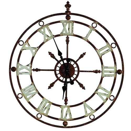 weathered-metal-nautical-clock-32 Nautical Clocks