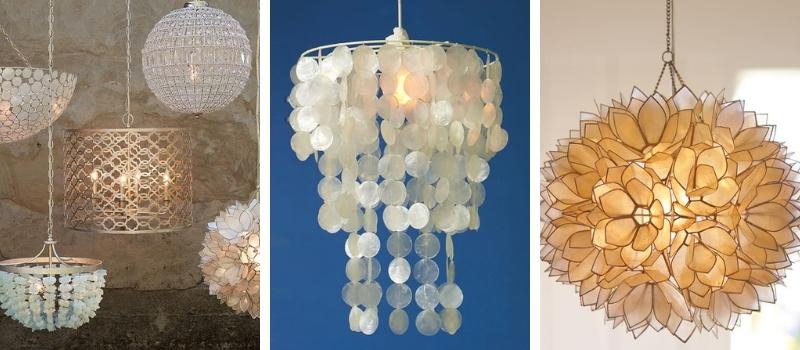 capiz chandeliers