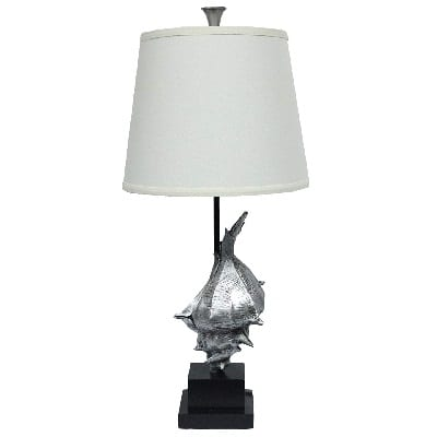 conch-shell-table-lamp Nautical Themed Lamps