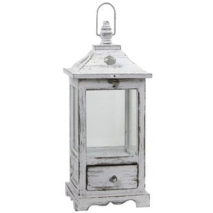 distressed-glass-and-wood-lantern Nautical Lanterns and Beach Lanterns