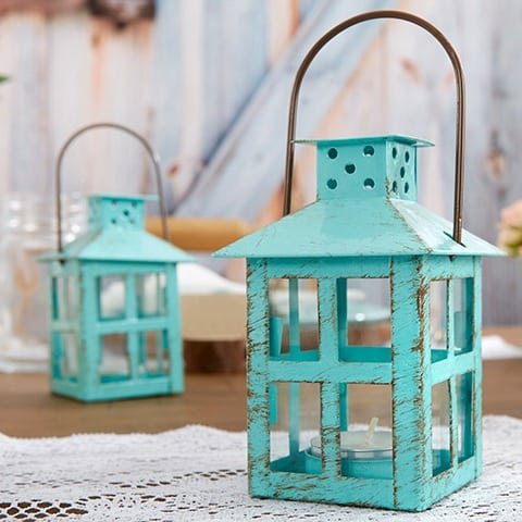 teal-wedding-lantern-beach Nautical Lanterns and Beach Lanterns
