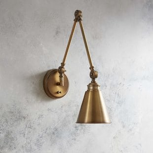 waucoba-1-light-swing-arm-lamp Beach Wall Sconces & Nautical Wall Sconces