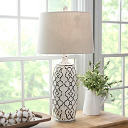 white-blue-coastal-lamp 100+ Coastal Themed Lamps
