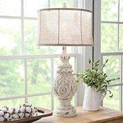 white-coastal-table-lamp 100+ Coastal Themed Lamps