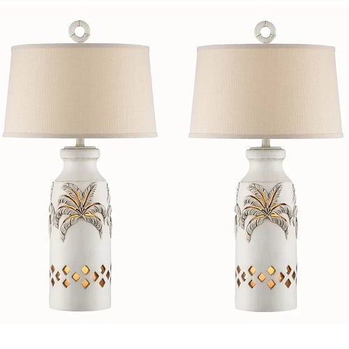 white-double-palm-tree-lamp Palm Tree Lamps