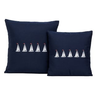 5-sailboats-coastal-throw-pillow Nautical Pillows and Nautical Throw Pillows