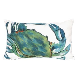 bluffs-blue-crab-lumbar-pillow Nautical Pillows and Nautical Throw Pillows